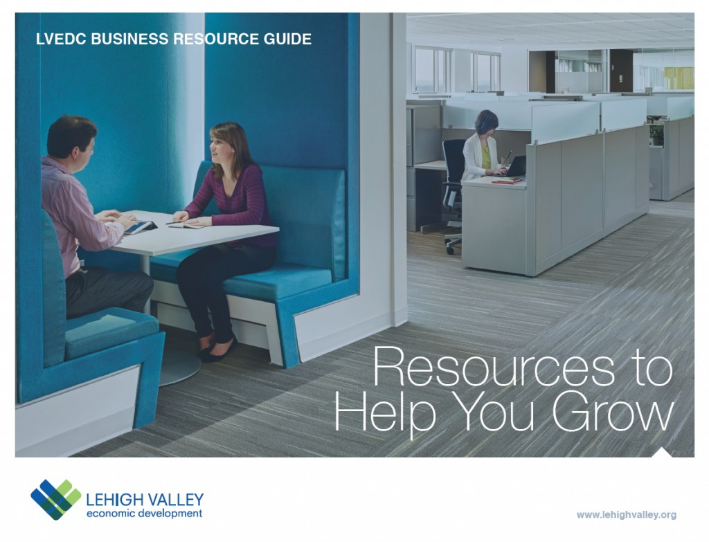 The cover of the newly-released LVEDC Business Resource Guide.