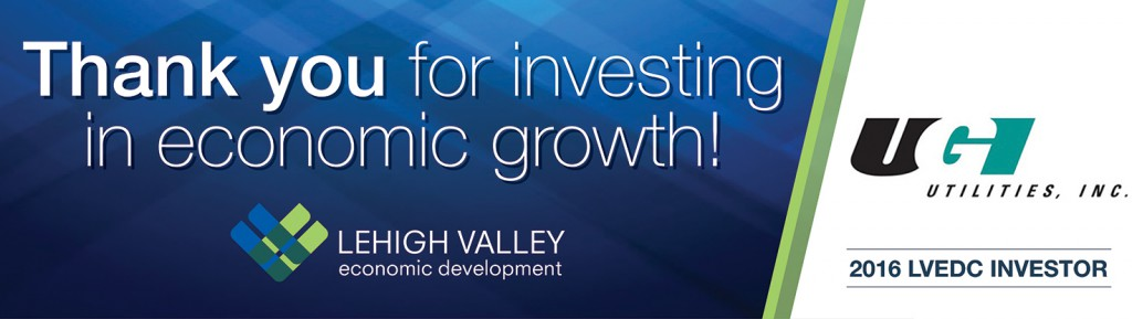 An example of one of the digital billboards that will appear along Route 22, thanking LVEDC's top investors of 2016.