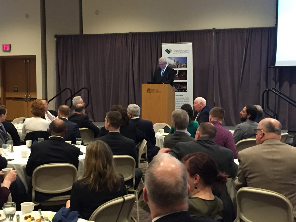 Lehigh County Executive Tom Muller delivered the 2017 State of the County address at DeSales University.