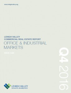 The cover of 2016 Q4 Lehigh Valley Commercial Real Estate Report.