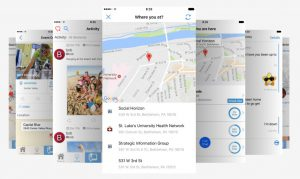 Screenshot examples from the UBMe app.
