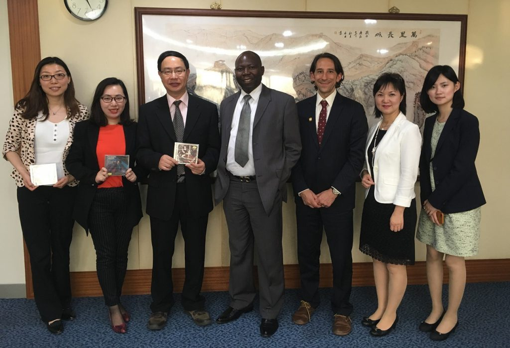 LVEDC Vice President of Economic Development and Marketing Matthew Tuerk (third from left) with officials from the Office of International Business Development and representatives of companies he met during his China tour.