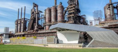 A nationwide committee or urban experts selected the $93.5 million SteelStacks campus for the Gold Medal award.