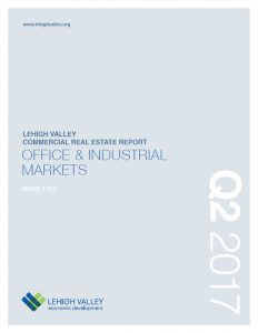 The cover of the Q2 2017 Lehigh Valley Commercial Real Estate Report.
