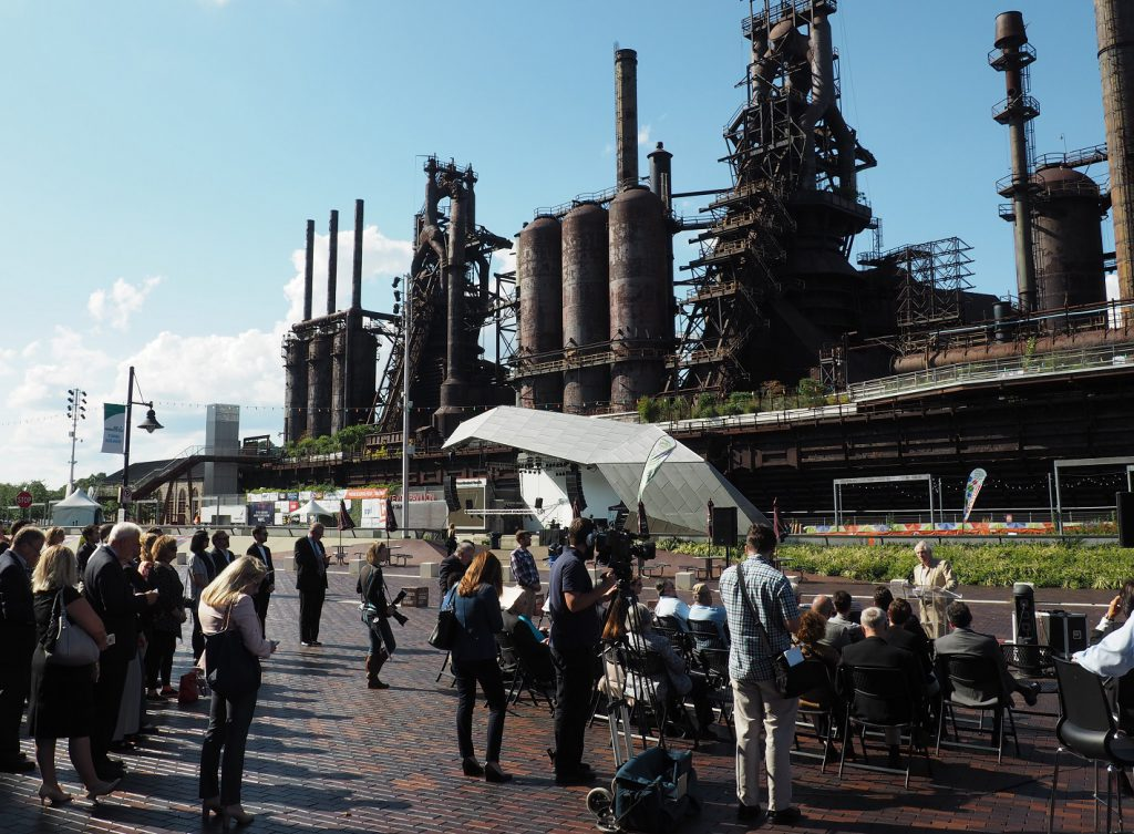 Bethlehem's SteelStacks campus received the Rudy Bruner Gold Medal Award for Urban Excellence on Sept. 7.