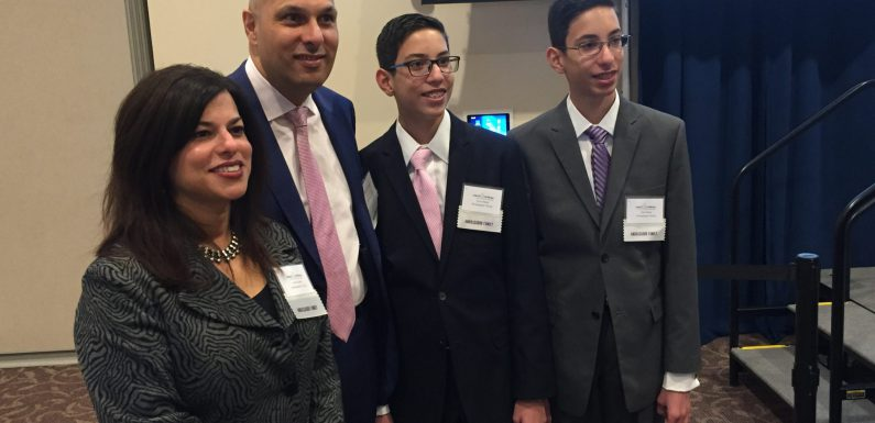 The ambassador family at this year's event was (left to right) Anita, Darius, Cyrus, and Sam Desai.
