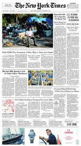 Click the image above for a full-sized version of The New York Times front page from Oct. 23, 2017.