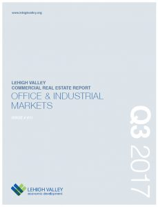 The cover of the Lehigh Valley Commercial Real Estate Report.