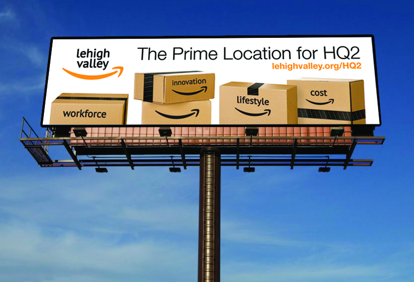 LVEDC has ordered billboards advertising its application for Amazon's second headquarters location.