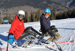Arly Velasquez and Stephani Victor (respectively) are two athletes who will be using monoskis made by Bethlehem-based DynAccess in the 2018 Paralympics. (photo by Marcus Hartman)
