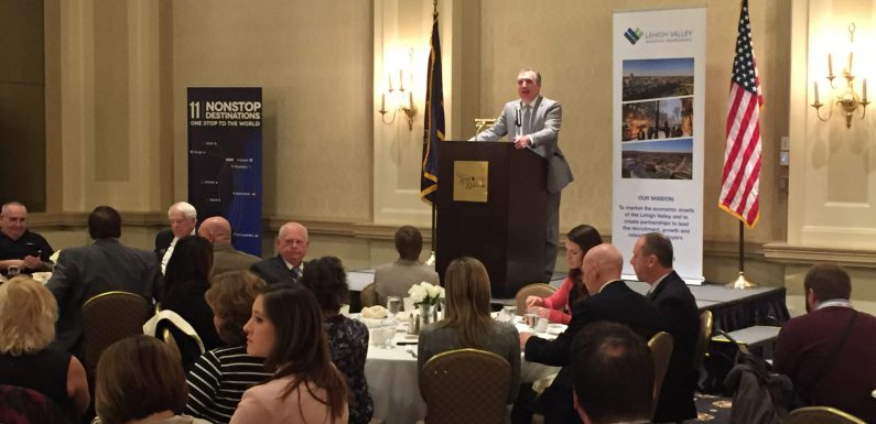 Northampton County Executive Lamont McClure delivers his first State of the County address at the Historic Hotel Bethlehem.