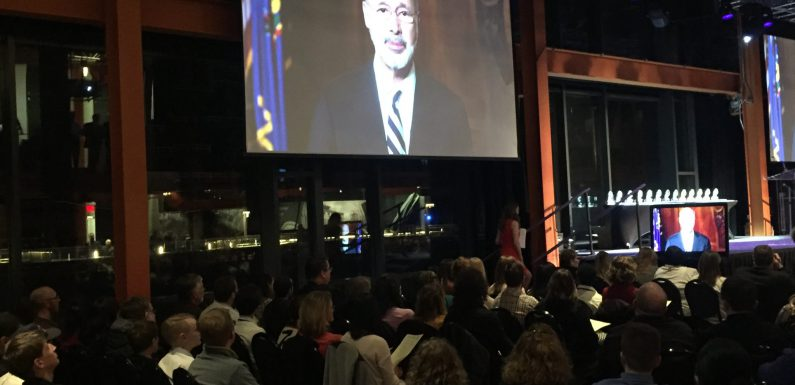 "An announced crowd of more than 900 people attended the ""What's So Cool About Manufacturing?"" student video contest ceremony at Bethlehem's ArtsQuest Center at SteelStacks."
