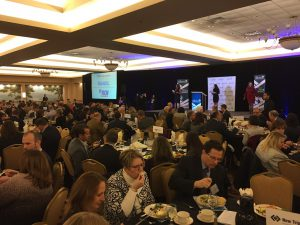 An announced crowd of more than 600 real estate developers attended the Greater Lehigh Valley Chamber of Commerce's 2018 Commercial Real Estate Outlook at the Holiday Inn in Upper Macungie Township.