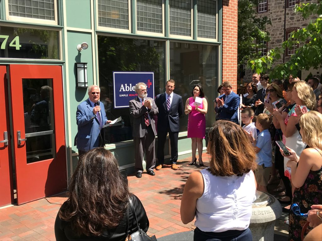 More than 50 people came out for the June 14 grand opening of the new AblePay Health office at 574 Main Street