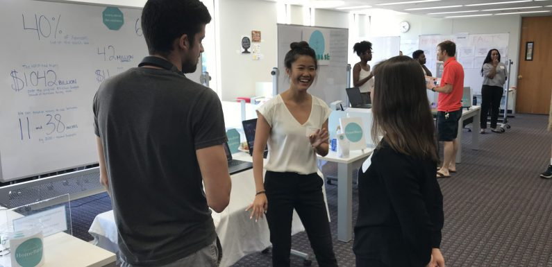 Students displayed their projects during Demo Day for the Hatchery, Lehigh University's full-time summer entrepreneurship immersion program.