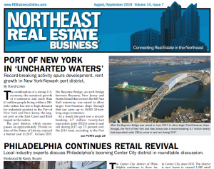 The cover of the Northeast Real Estate Business issue that includes the story about the Lehigh Valley office market.