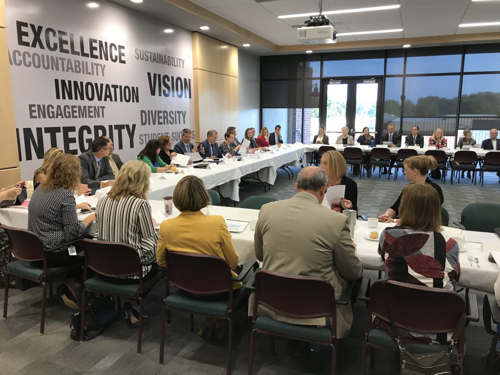 The LVEDC Education and Talent Supply Council meeting in September 2018 to discuss the recently-completed talent supply study.