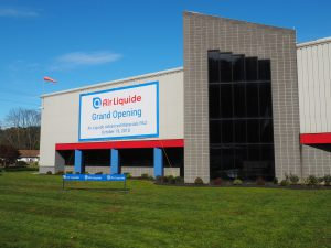The Air Liquide building at 1379 Delaware Drive in Upper Mount Bethel Township.