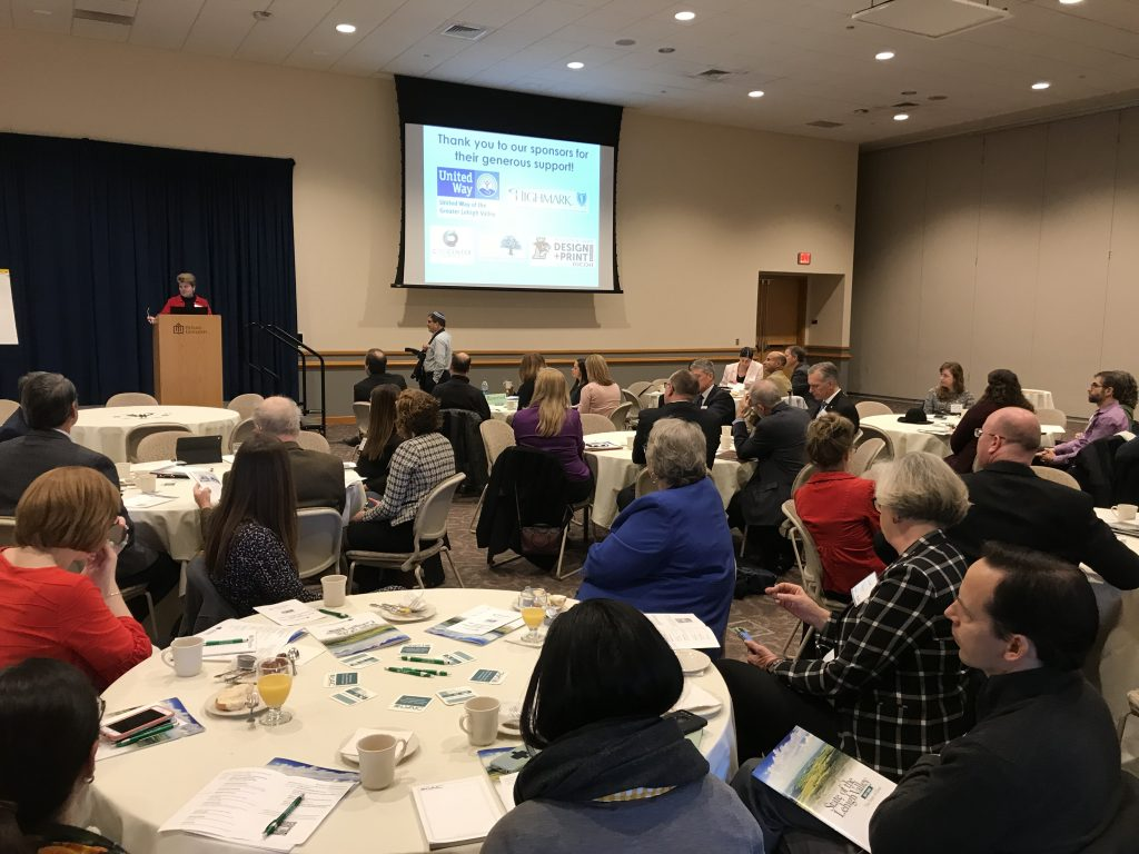 "The Lehigh Valley Research Consortium presented its annual ""State of the Lehigh Valley"" report at DeSales University on Nov. 12."
