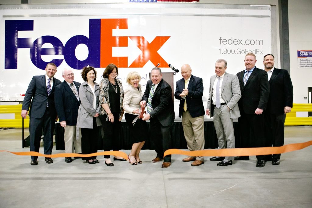 FedEx Ground celebrated The opening of its 850,000 square-foot facility in Allen Township.