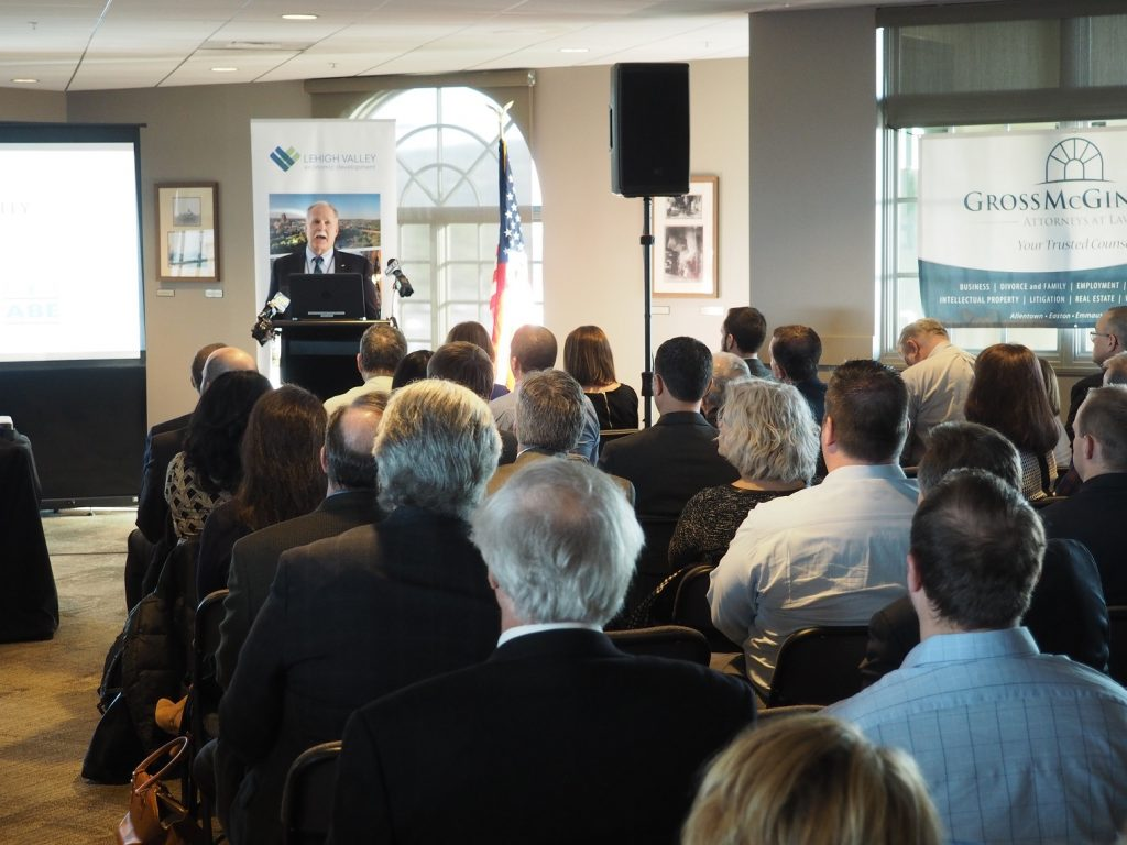 Lehigh County Executive Phillips Armstrong delivered his State of the County address at Coca-Cola Park in Allentown.
