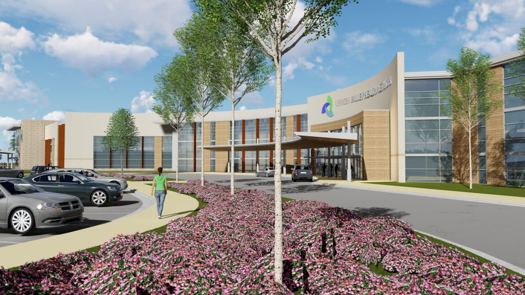 A rendering of the planned hospital to be built at the LVHN campus in Lower Nazareth Township. (courtesy image)