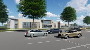 A rendering of the planned medical building to be built at the LVHN campus in Lower Nazareth Township. (courtesy image)