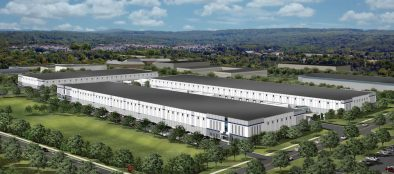 A rendering of the Lehigh Valley Flex Center, a three-building, 470,000 square-foot industrial complex that will be built at 3900 Burgess Place in Hanover Township, Northampton County.