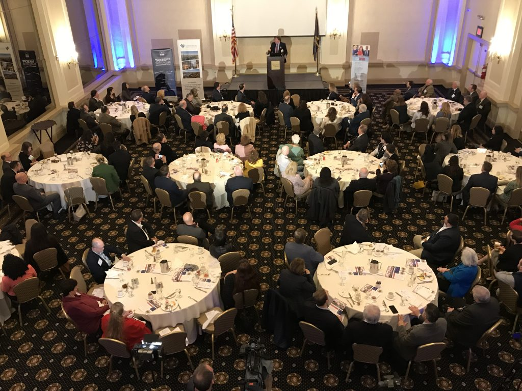 Northampton County Executive Lamont McClure delivered his State of the County address at the Historic Hotel Bethlehem on March 27.