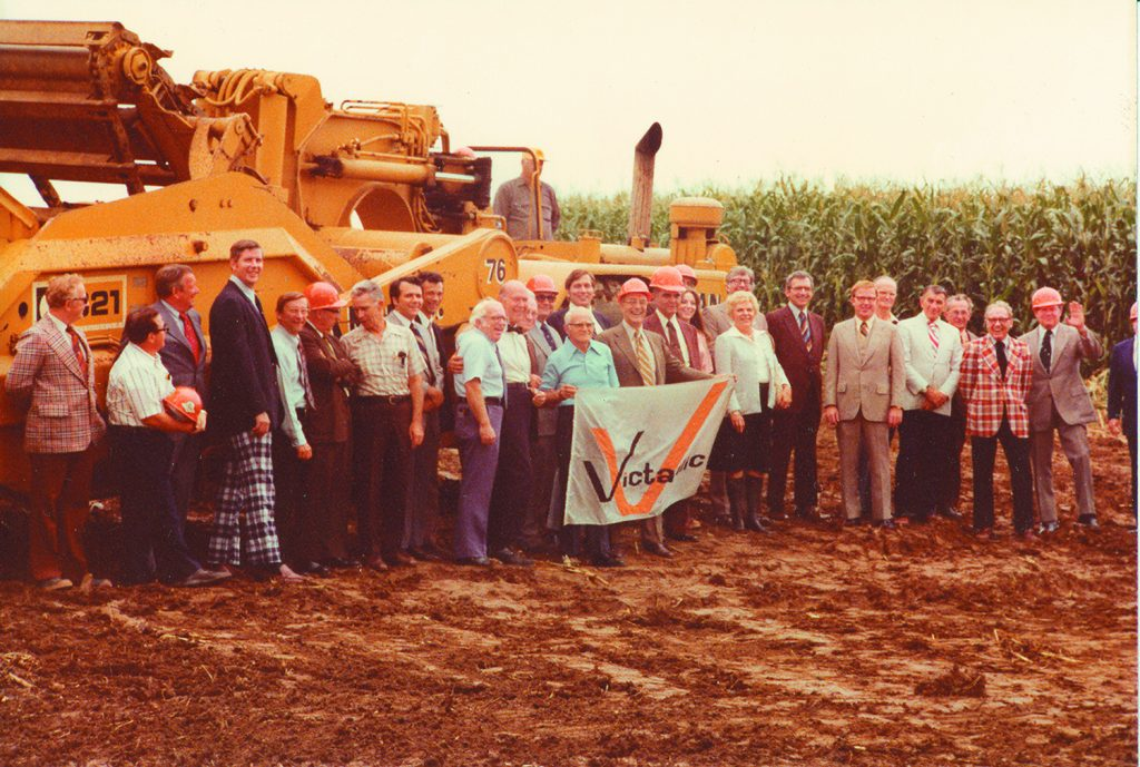 A photo from the 1976 groundbreaking of the Victaulic headquarters in Forks Township. (photo courtesy Victaulic)
