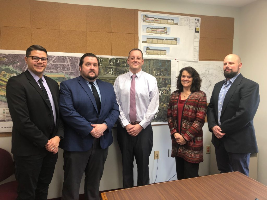 LVEDC Director of Community Outreach and Redevelopment Andrew Kleiner (second from left) after a visit with Lower Macungie Township officials.
