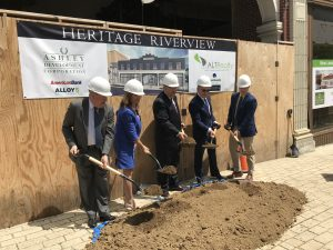 City officials and principals from the Ashley Development Corporation held a groundbreaking ceremony on May 16 for the building at 132-142 South 3rd Street.