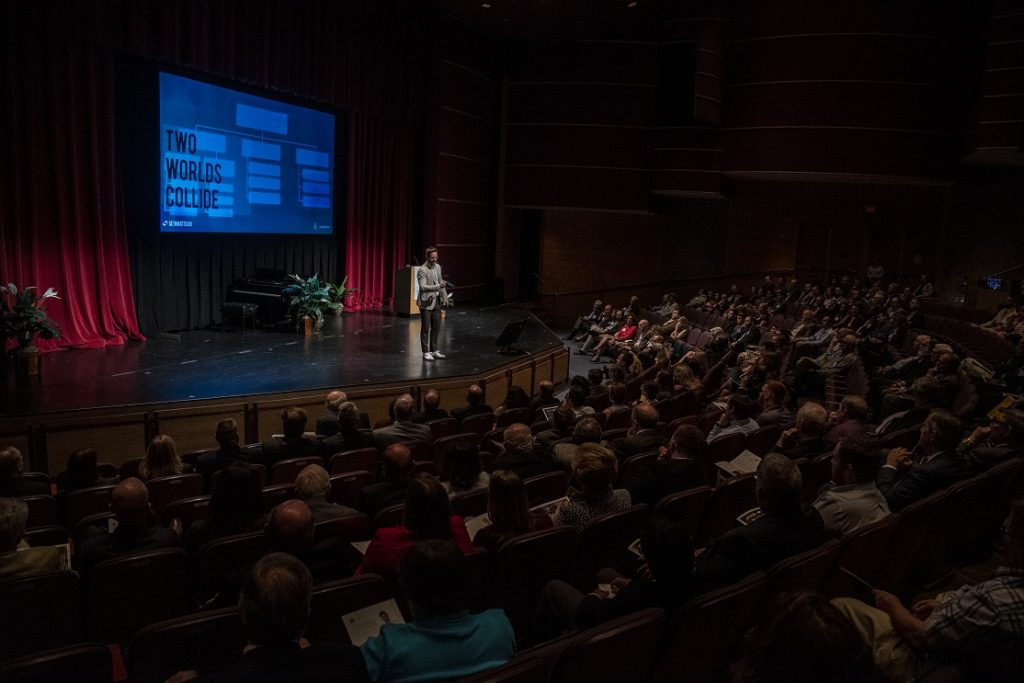 Seth Mattison, an internationally renowned expert on workforce trends, delivered the keynote speech at the Ben Franklin iXchange on May 21. (courtesy photo)