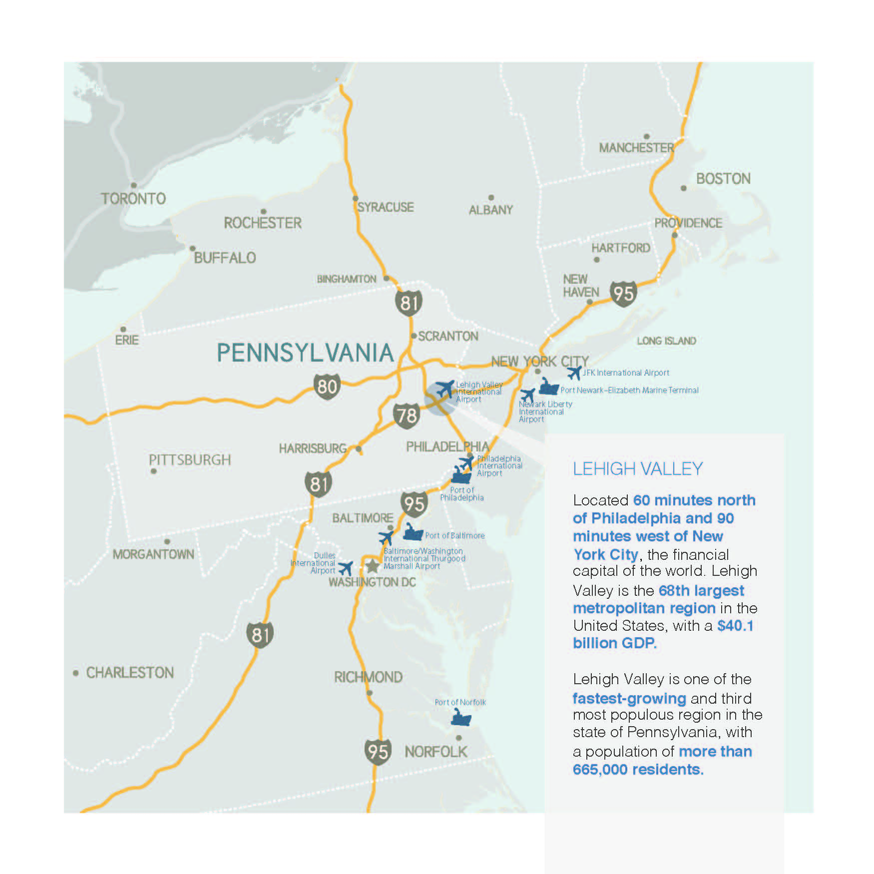 Maps Of The Lehigh Valley Lehigh Valley Pa Lehigh Valley Pa