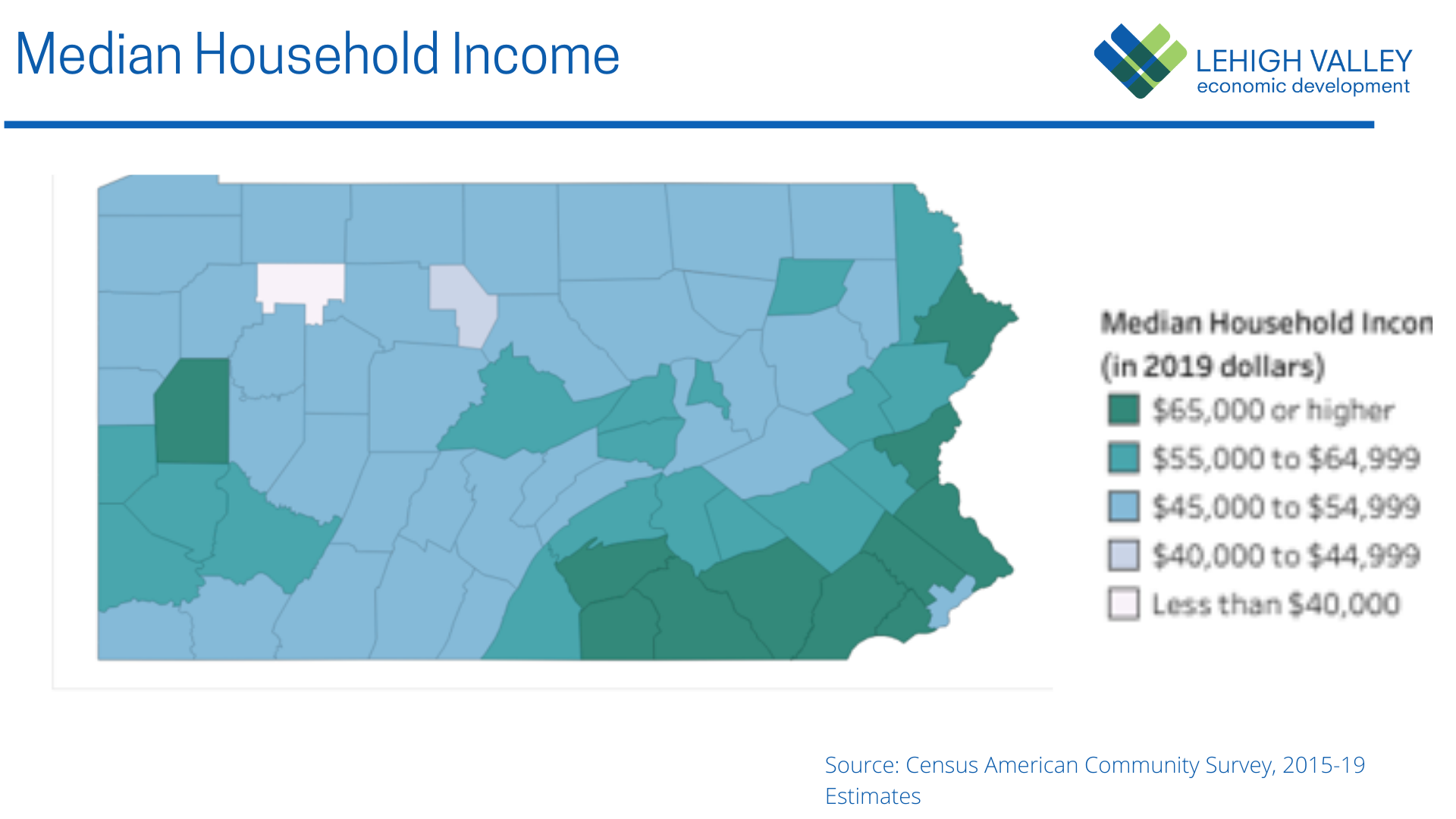 Lehigh Valley Median Household Income